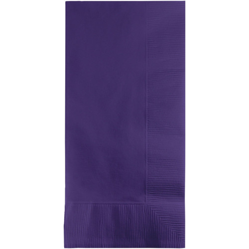 """Club Pack of 600 Purple 2-ply Disposable Dinner Napkins 7.5"""" - IMAGE 1"""