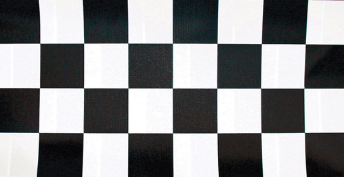 Pack of 6 Black and White Checkered Disposable Banquet Party Table Cloth Rolls 100' - IMAGE 1