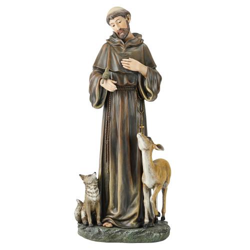 "18"" Joseph's Studio Saint Francis of Assisi Inspirational Religious Figure - IMAGE 1"