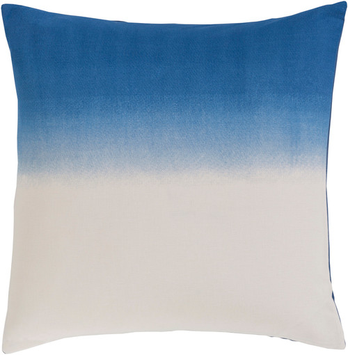 """26"""" Imperial Blue and White Dyed Ombre Square Throw Pillow - IMAGE 1"""