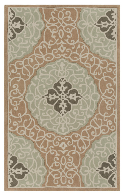 2.5' x 8' Beige and Gray Hand Loomed Area Throw Rug Runner - IMAGE 1
