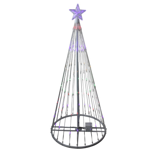 4' Multi-Color LED Light Show Cone Christmas Tree Lighted Yard Art Decoration - IMAGE 1