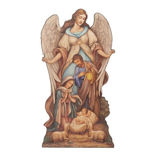 """20"""" Joseph's Studio Holy Family with Angel Religious Plaque with Easel and Base - IMAGE 1"""