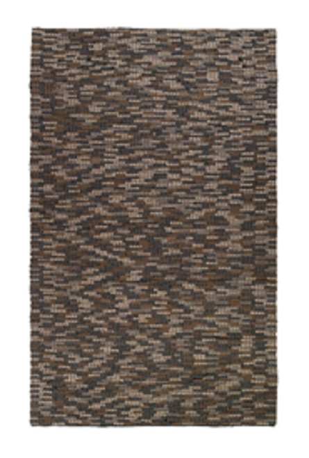 2' x 3' Mushroom and Shadow Gray, Hazelwood, Hickory and Espresso Brown Hand Woven Rectangular Runner - IMAGE 1