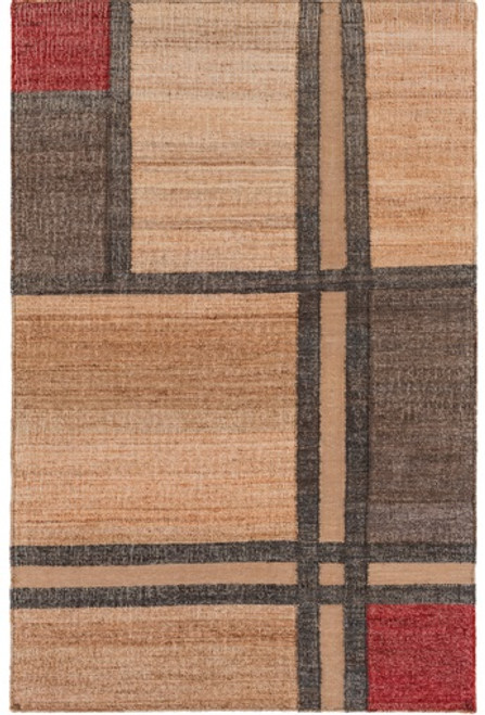 5' x 7.5' Shades of Dimensions Brown Hand Woven Area Throw Rug - IMAGE 1