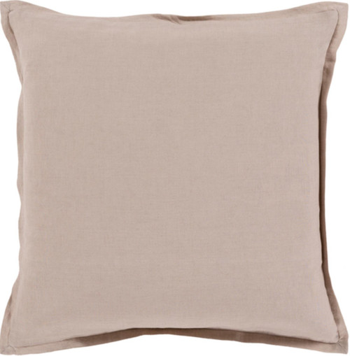 "22"" Brown Solid Contemporary Square Throw Pillow - IMAGE 1"