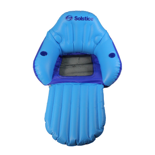 67-Inch Blue Inflatable Convertible Swimming Pool Floating Lounger with Mesh Seat - IMAGE 1