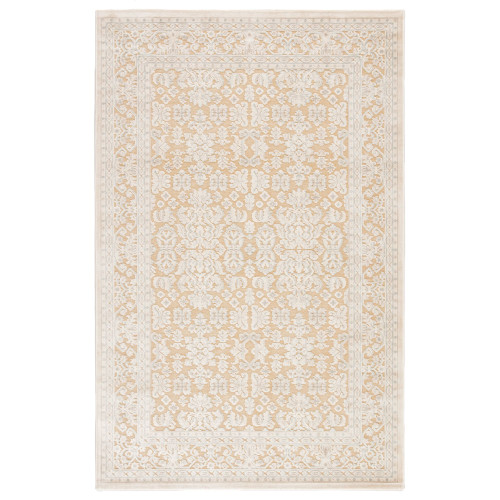 7.5' x 9.5' Brown and Ivory Transitional Regal Rectangular Area Throw Rug - IMAGE 1
