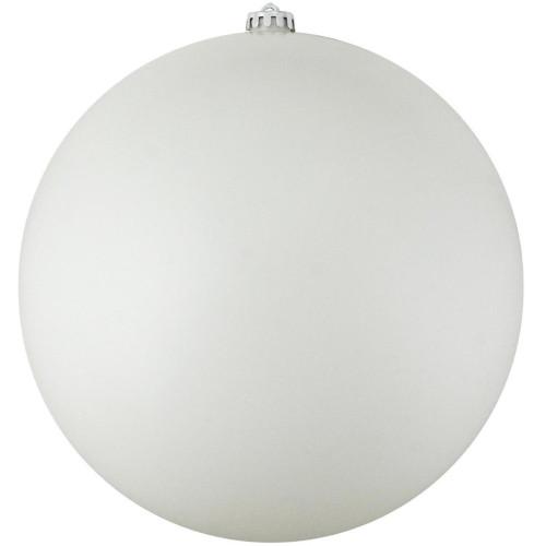 "Commercial Matte White Shatterproof Christmas Ball Ornament 8"" (200mm) - IMAGE 1"