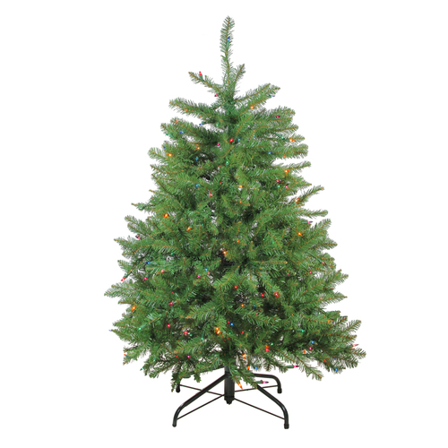 4' Pre-Lit Northern Pine Full Artificial Christmas Tree - Multicolor Lights - IMAGE 1