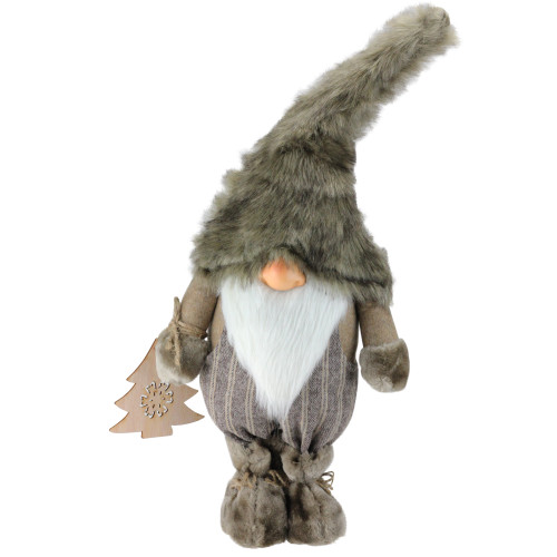 """22"""" Gnome with Christmas Tree Ornament Tabletop Decoration - IMAGE 1"""