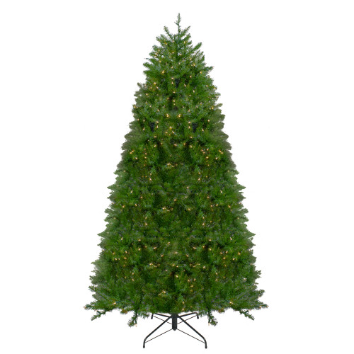 12' Pre-lit Northern Pine Full Artificial Christmas Tree - Warm Clear LED Lights - IMAGE 1