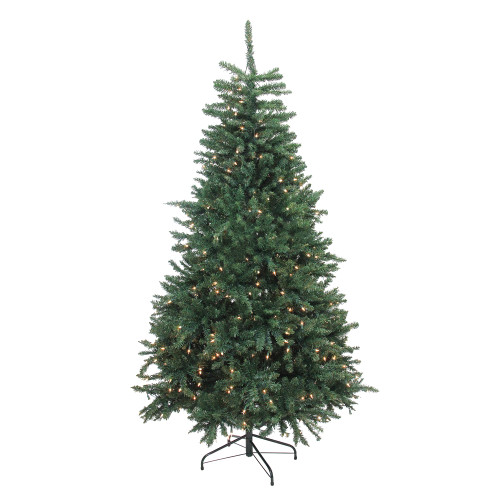 6.5' Pre-Lit Full Artificial Northern Pine Christmas Tree - Clear Lights - IMAGE 1