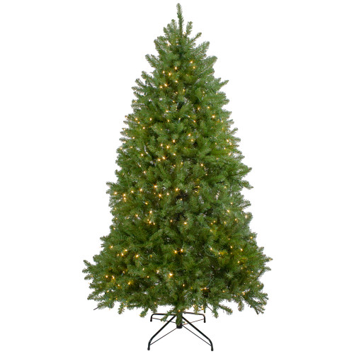 6.5' Pre-Lit Full Northern Pine Artificial Christmas Tree - Warm Clear LED Lights - IMAGE 1
