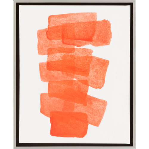 "22"" Orange Red Different Strokes Decorative Abstract Elegant Wall Decor - IMAGE 1"