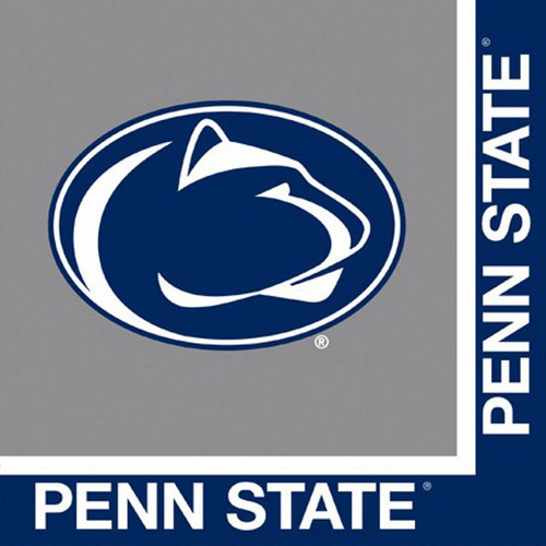 Pack of 240 Blue and White NCAA Penn State Nittany Lions Party Lunch Napkins - IMAGE 1