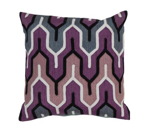 "20"" Purple and White Geometric Empire Square Throw Pillow - IMAGE 1"