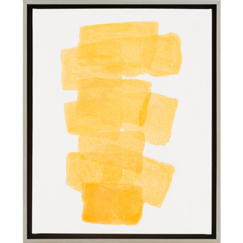 """22"""" Gold Yellow Different Strokes Decorative Abstract Elegant Wall Décor - IMAGE 1"""