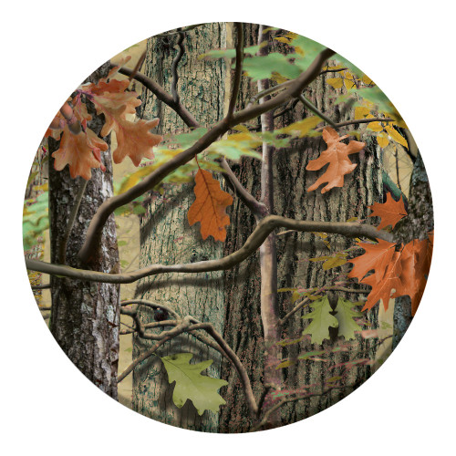 "Club Pack of 96 Hunting Camo Disposable Paper Party Banquet Dinner Plates 9"" - IMAGE 1"
