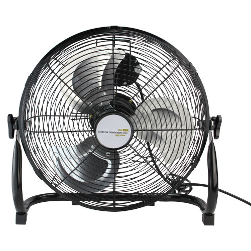 "14"" Jet Black Three Speed Adjustable Tilt Portable Floor Fan - IMAGE 1"
