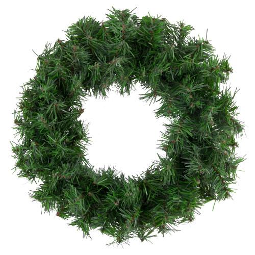 Canadian Mini Pine Artificial Christmas Wreath - 12-Inch, Unlit - IMAGE 1