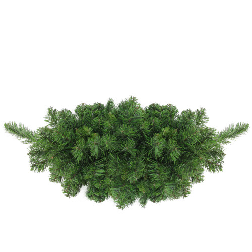 "32"" Green Lush Mixed Pine Artificial Christmas Swag - Unlit - IMAGE 1"