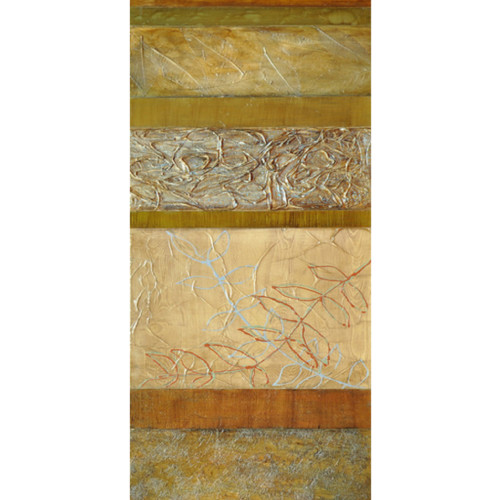 """60"""" Olive Green and Rust Orange Textured Foliage Elegant Wall Décor - IMAGE 1"""