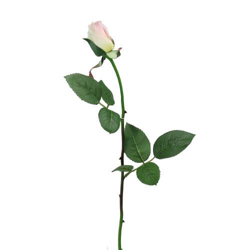 "23"" Pink Long Stem Artificial Rose Bud Pick - IMAGE 1"
