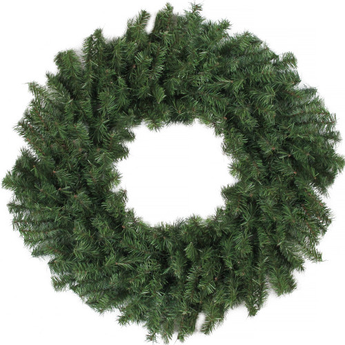 """36"""" Green Canadian Pine Artificial Christmas Wreath - Unlit - IMAGE 1"""