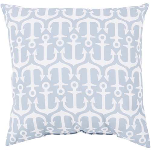 """26"""" Gray and White Square Contemporary Throw Pillow Cover - IMAGE 1"""