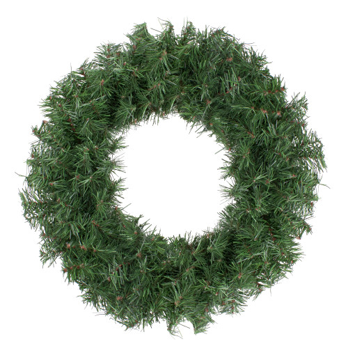 18 in Unlit Canadian Pine Artificial Christmas Wreath, Green - IMAGE 1