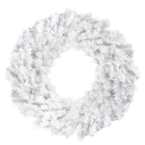 White Canadian Pine Artificial Christmas Wreath - 24-Inch, Unlit - IMAGE 1