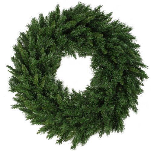 Lush Mixed Pine Artificial Christmas Wreath - 36-Inch, Unlit - IMAGE 1