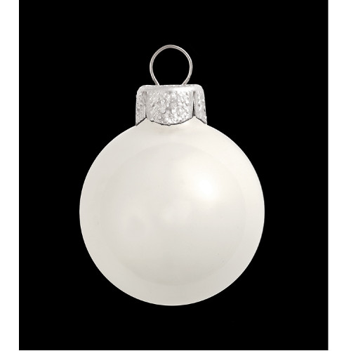 "Shiny White Glass Ball Christmas Ornament 7"" (180mm) - IMAGE 1"