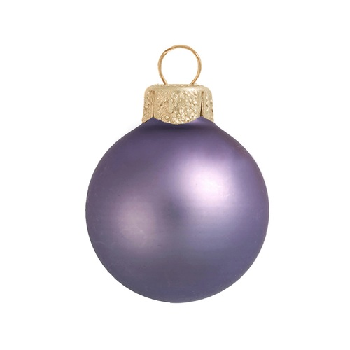 "Matte Lilac Purple Glass Ball Christmas Ornament 7"" (180mm) - IMAGE 1"