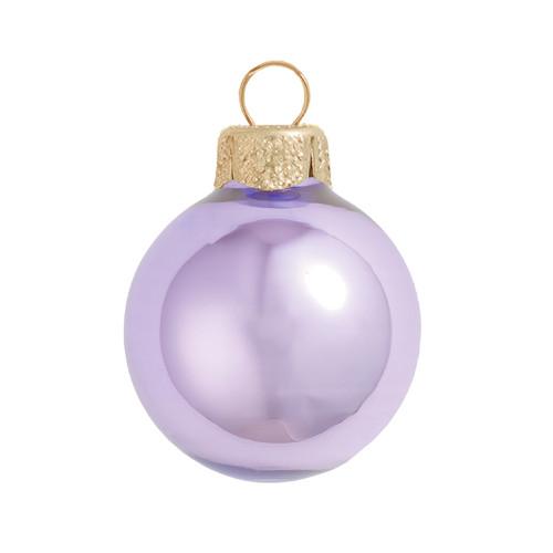 "Pearl Lavender Purple Glass Ball Christmas Ornament 7"" (180mm) - IMAGE 1"