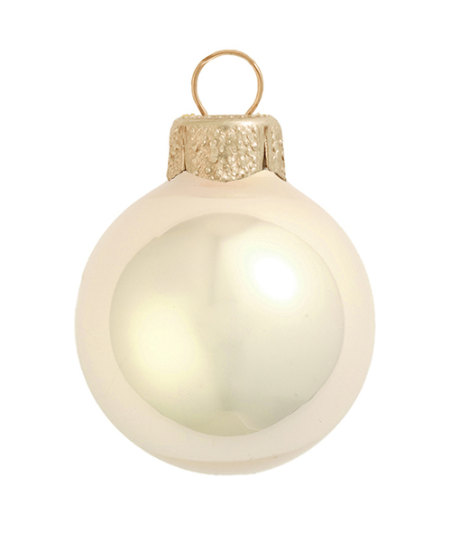 """4ct Pearl Champagne Gold Glass Ball Christmas Ornaments 4.75"""" (120mm) - IMAGE 1"""