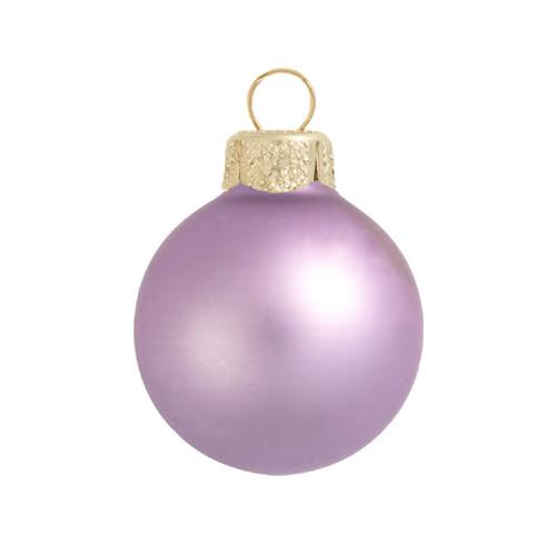 "2ct Soft Lavender Glass Matte Christmas Ball Ornaments 6"" (150mm) - IMAGE 1"