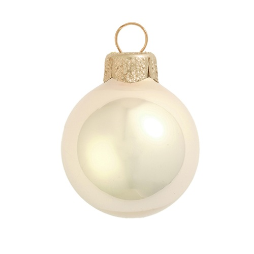 """Pearl Champagne Glass Ball Christmas Ornament 7"""" (180mm) - IMAGE 1"""
