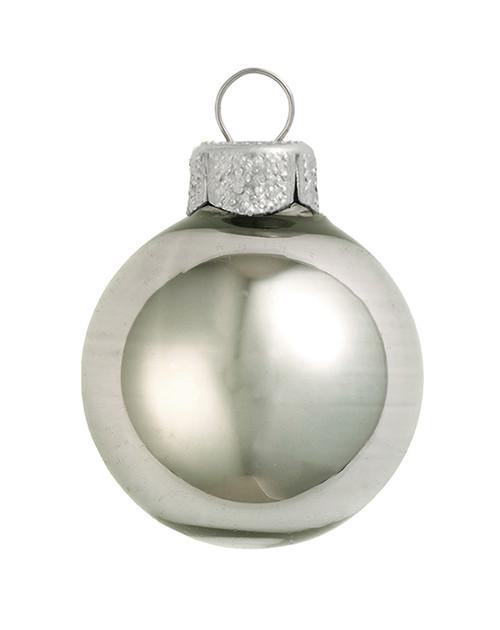 "Shiny Pewter Gray Glass Ball Christmas Ornament 7"" (177mm) - IMAGE 1"