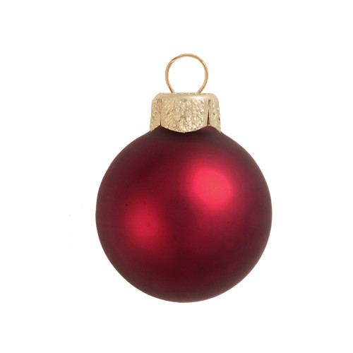 """Matte Bordeaux Red Glass Ball Christmas Ornament 7"""" (180mm) - IMAGE 1"""
