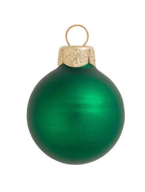 "Matte Green Xmas Glass Ball Christmas Ornament 7"" (180mm) - IMAGE 1"