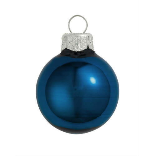 "4ct Shiny Midnight Blue Glass Ball Christmas Ornaments 4.75"" (120mm) - IMAGE 1"