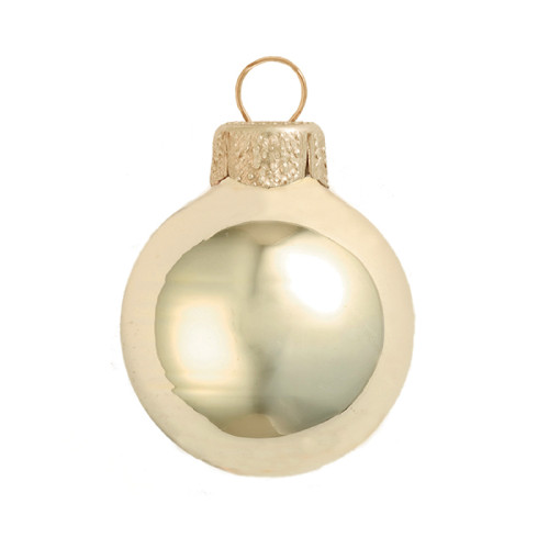 """4ct Champagne Gold Glass Shiny Christmas Ball Ornaments 4.75"""" (120mm) - IMAGE 1"""