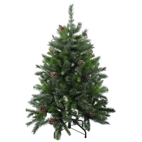 4' Snowy Delta Pine with Pine Cones Full Artificial Christmas Tree - Unlit - IMAGE 1