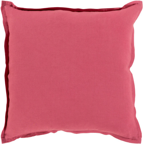 """22"""" Pink Solid Contemporary Square Throw Pillow - IMAGE 1"""