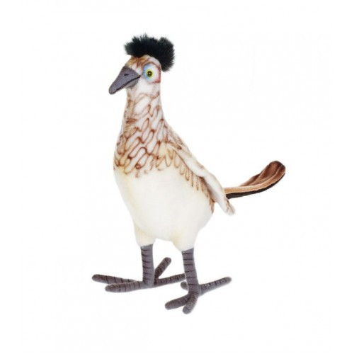 """Set of 4 Brown and White Handcrafted Roadrunner Bird Stuffed Animals 7.5"""" - IMAGE 1"""