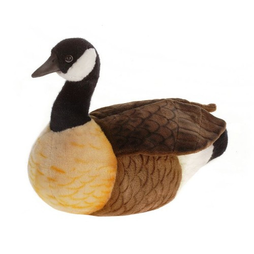 "Set of 2 Black and White Handcrafted Plush Canada Goose Stuffed Animals 17.50"" - IMAGE 1"