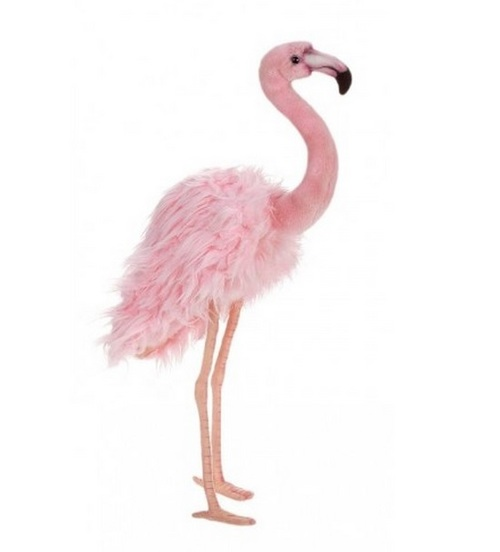"Set of 3 Pink Handcrafted Soft Plush Flamingo Stuffed Animals 13"" - IMAGE 1"