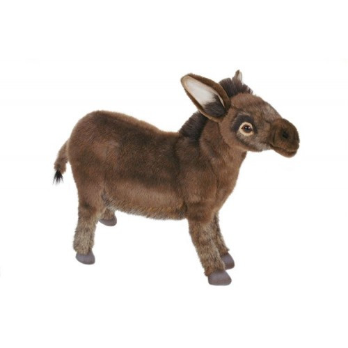 """Set of 2 Brown Handcrafted Donkey Stuffed Animals 16"""" - IMAGE 1"""